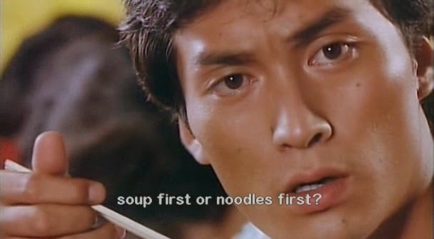 soup or noodle first tampopo